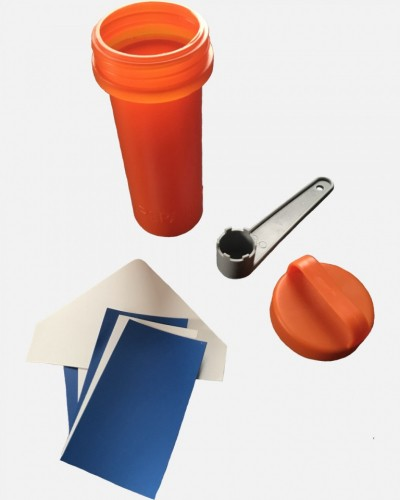 Repair Kit Container Bucket, inflatables + Wrench (Valve key)